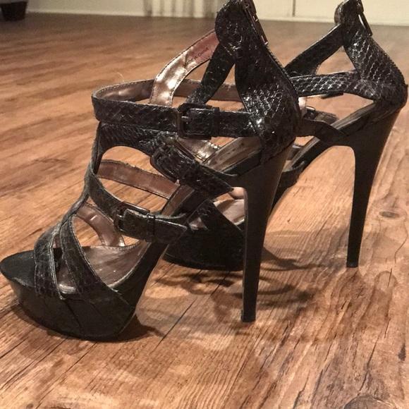 2bc7d7ff9a54 bebe Shoes - Bebe never worn brand new snakeskin platform heel